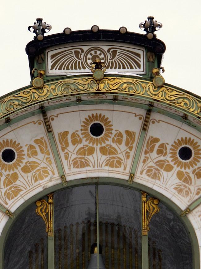 Padiglione di Otto Wagner in Karlsplatz - dettaglio