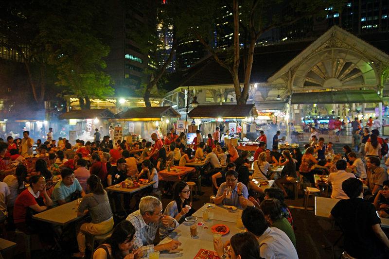 Satay_stalls_along_Boon_Tat_Street_next_to_Telok_Ayer_Market,_Singapore