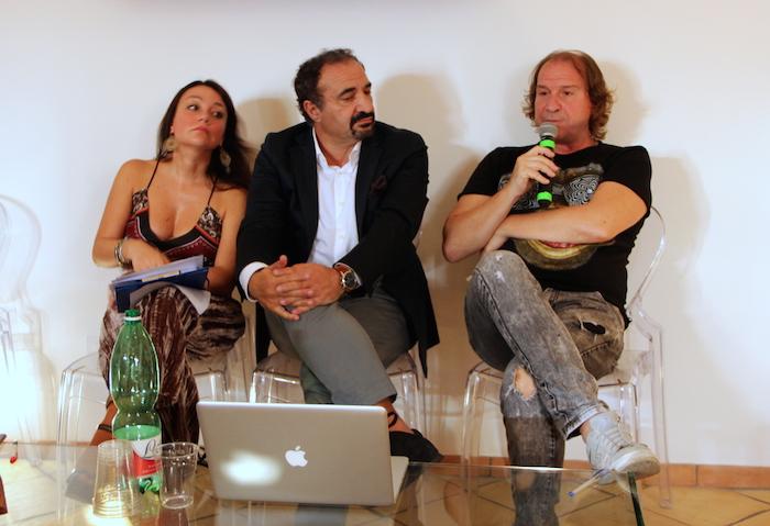 Gennaro Luciano, sulla destra, con Antonella D'Avanzo e Giuseppe Giorgio all'Open Day della Polselli di Arce