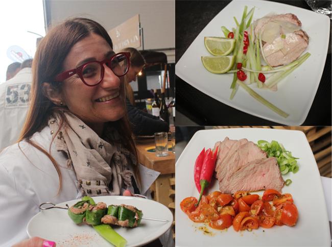 Tra le sfidanti donne, un'italiana, Alessia Bianchi di Como, che ha presentato alcune preparazioni a base di vitello.