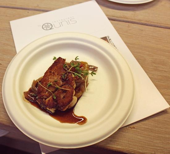 Le animelle di vitello con peperonata di Ronald Kunis del ristorante Qunis