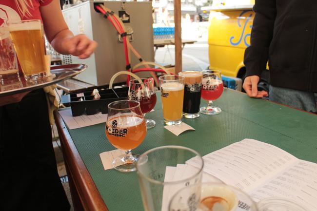 Bicchieri di birra di vario tipo